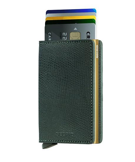 Slimwallet Rango Green-Gold RFID