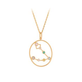Sternzeichen Halskette Gold Fische