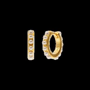 ALEYOLÉ Perlenohrringe Gold