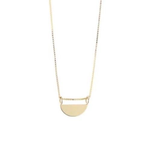 Lange Rising Sun Halskette Gold