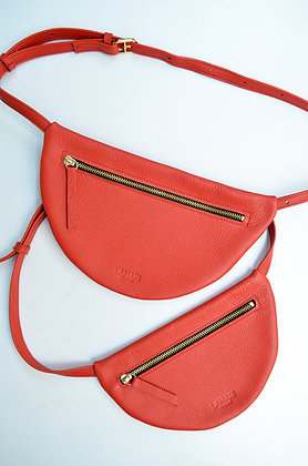 MOON Hip Bag XL Leather Red