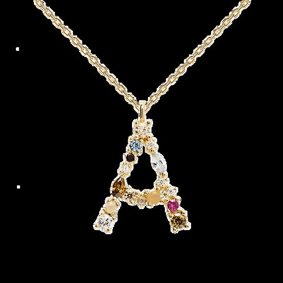 Buchstaben Goldhalskette A