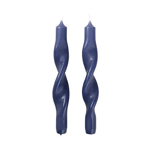 Gedrehte Kerzen Twist Baja Blue 2er Set
