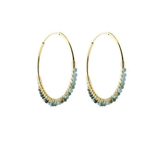 Chunky hoop earrings gold