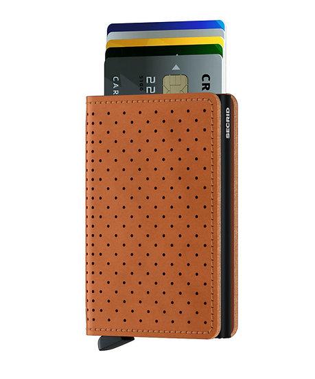 Slimwallet Perforated Cognac RFID