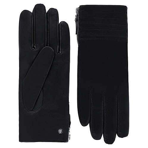 BUDAPEST Schwarz Lederhandschuhe