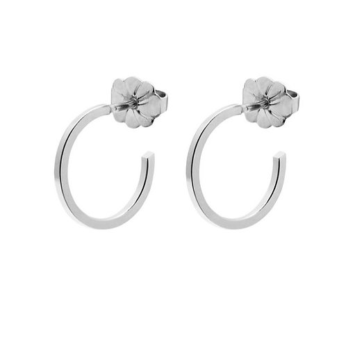 Small Hoop Earrings Silver