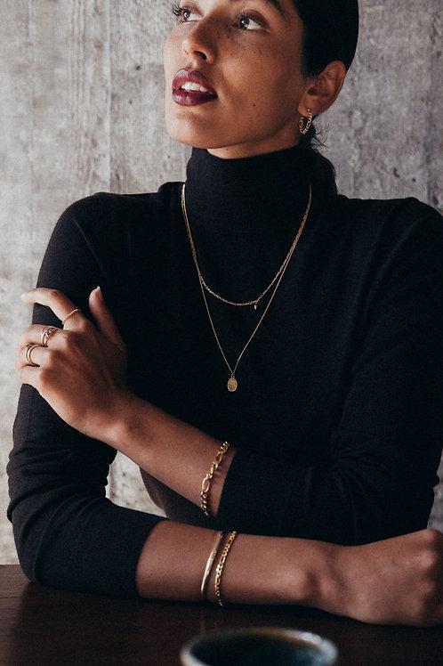 Figaro Perlen Halskette Gold