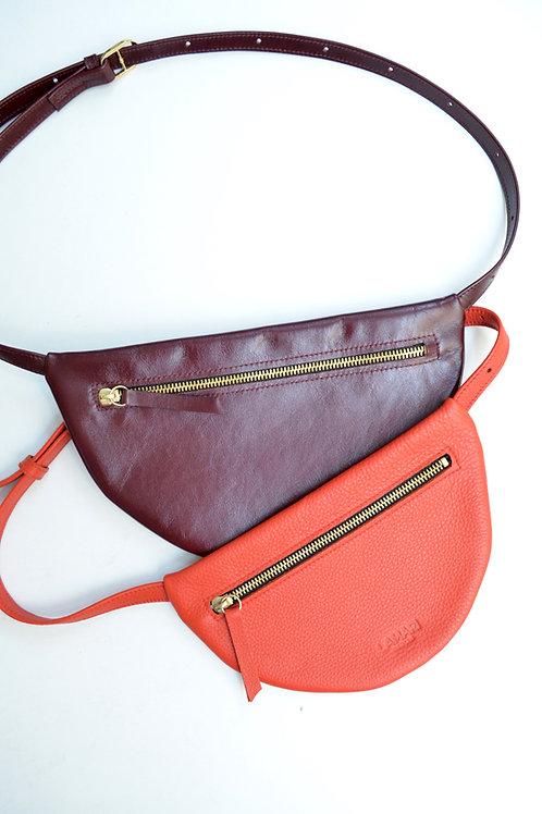 MOON Hip Bag XL Leather Bordeaux