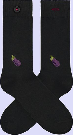 Socken aus Biobaumwolle Aubergine AART