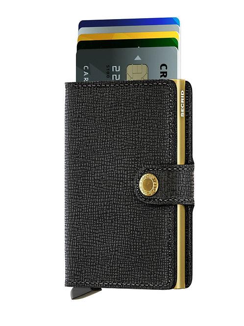 Miniwallet Crisple Black-Gold RFID