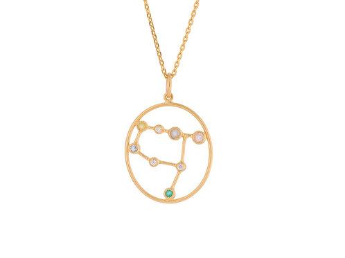 Sternzeichen Halskette Gold Zwilling