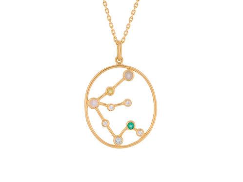 Sternzeichen Halskette Gold Wassermann
