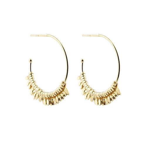 Large Gypsy hoop earrings gold