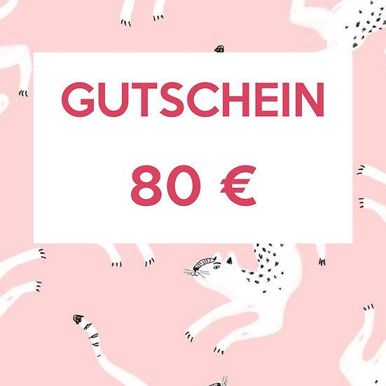 Gutschein 80 €