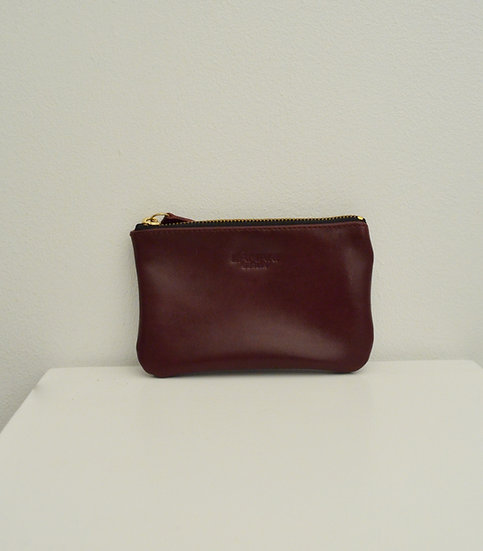 Leather Cosmetic Bag Bordeaux JUNE SMALL