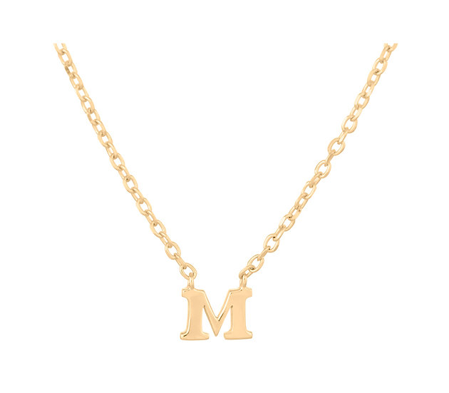 Note Initialkette Gold Anhänger M