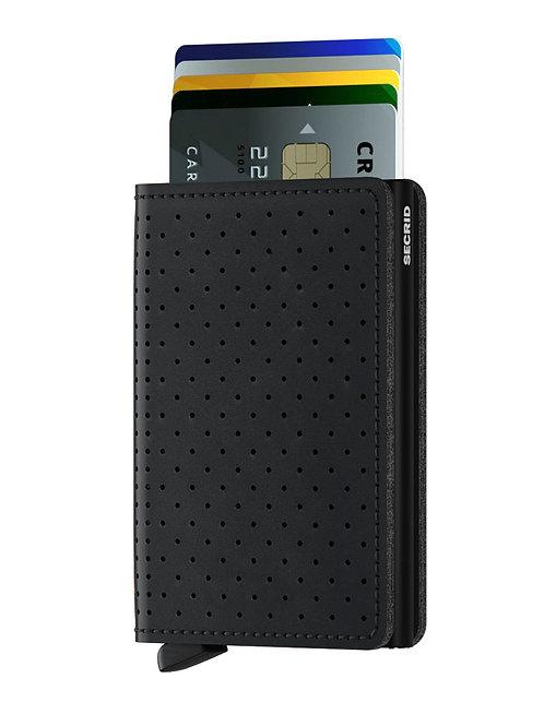 Slimwallet Perforated Black RFID