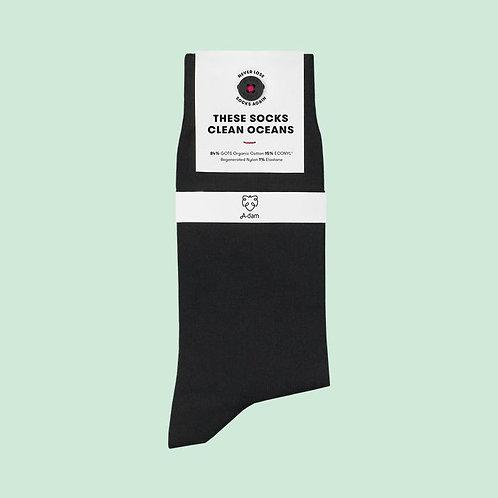 Schwarze Socken aus Biobaumwolle JOOST