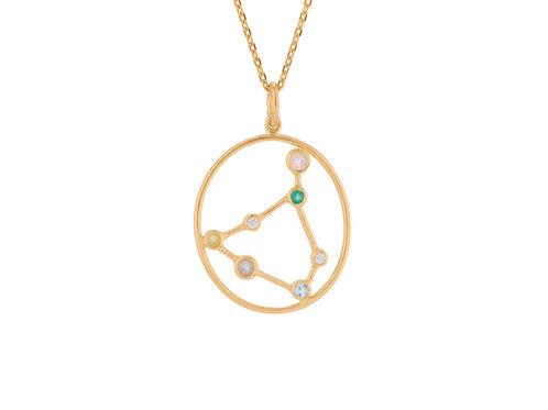 Sternzeichen Halskette Gold Steinbock