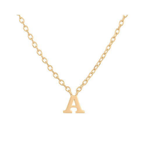 Note Necklace Gold Pendant A