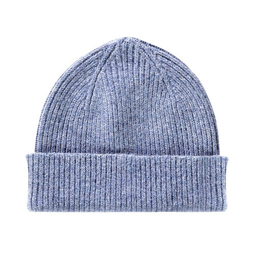 Lambswool Beanie Washed Denim