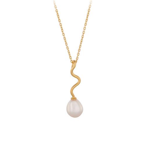 Goldene Halskette Bay mit Perle
