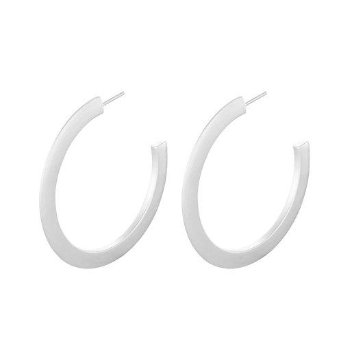 New York Hoop earrings Silver