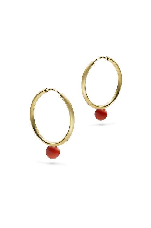 Luna Hoops Gold Karneol