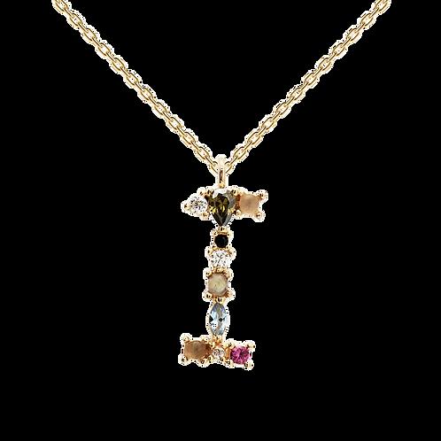 Letter Necklace Gold I