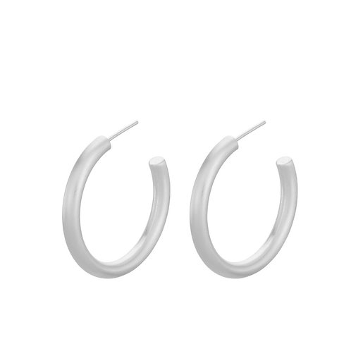 Chunky Beta Hoops Silver