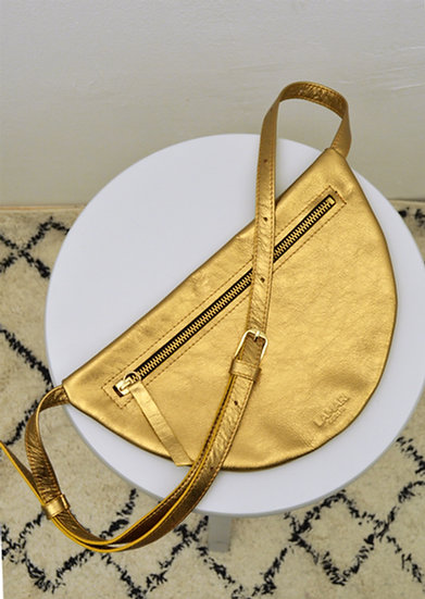 MOON Hip Bag XL Leather Bronze