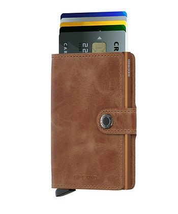 Miniwallet Vintage Cognac Rust RFID