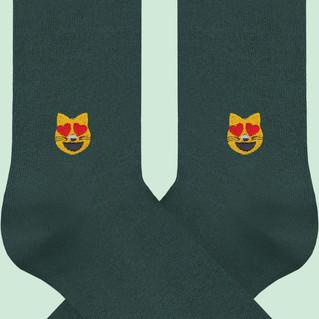 A-DAM Socken Emoji Cat