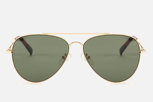 Fly High Gold Metallic Aviator Sonnenbrille