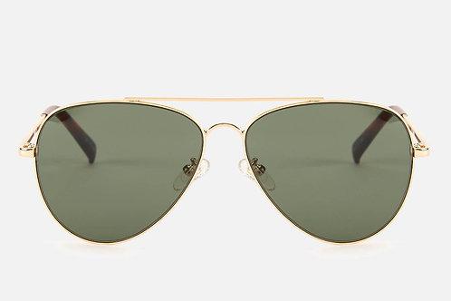 Fly High Gold Metallic Aviator Sonnenbrille