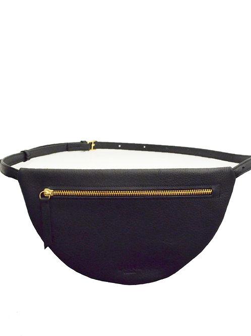 MOON Hip Bag XL Leather Black