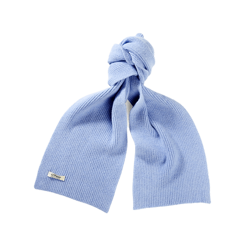 Lambswool Schal Light Blue Sky