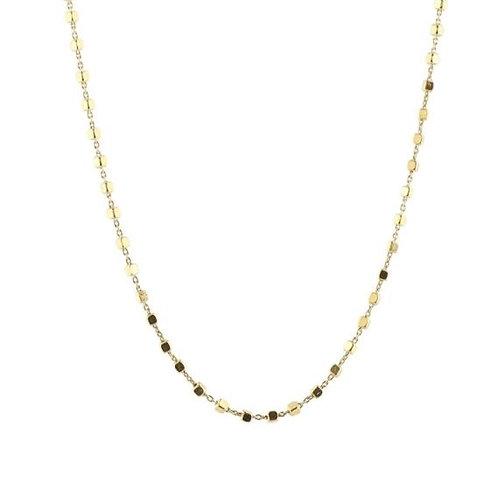 Blocks beaded Halskette Gold