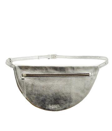 MOON Hip Bag XL Leather Silver