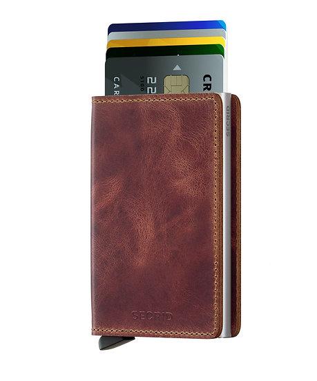 Slimwallet Vintage Brown RFID