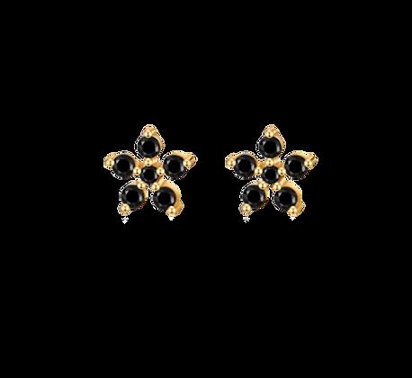 Black Azalea Ohrstecker Gold
