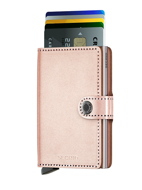 Miniwallet Metallic Rose RFID