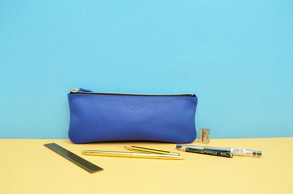 Leather Pencil Case Royal Blue