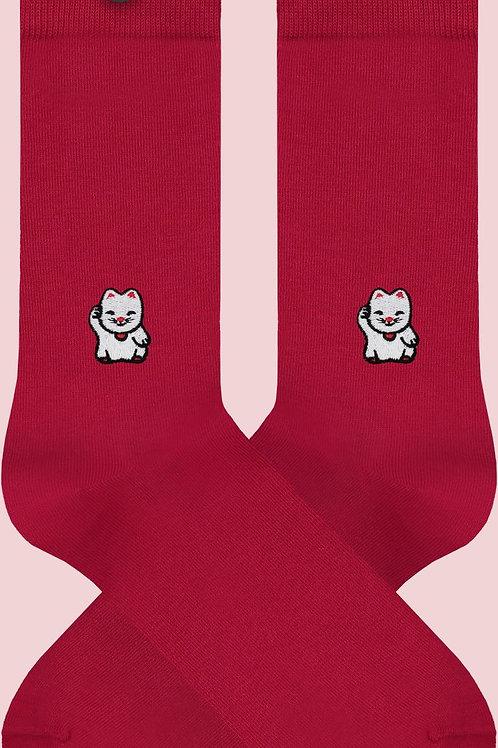Socken aus Biobaumwolle Chinesische Katze LOEK