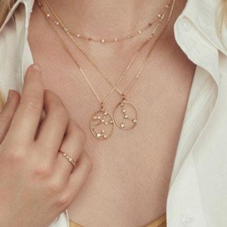Sternzeichen Halskette Gold Krebs