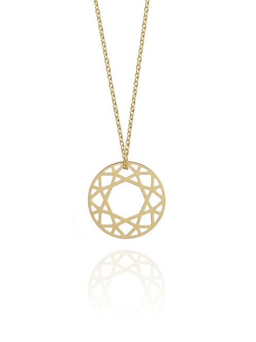 Small Brilliant Diamond Necklace Gold