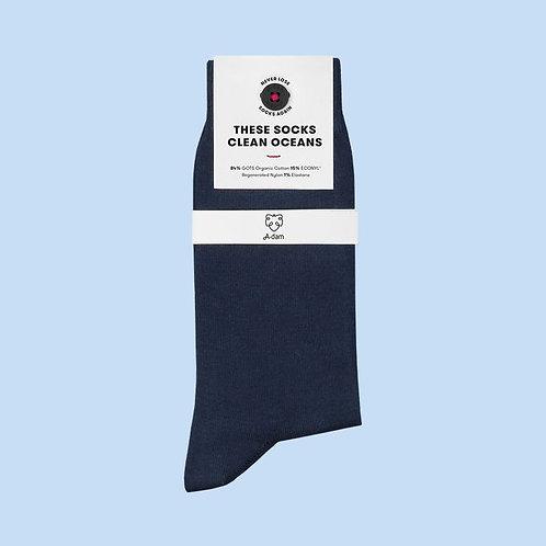 Blaue Socken aus Biobaumwolle JOOST