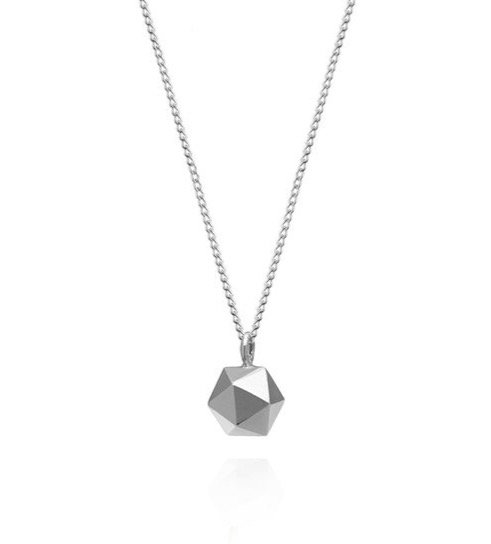 Silberne Kette Icosahendron