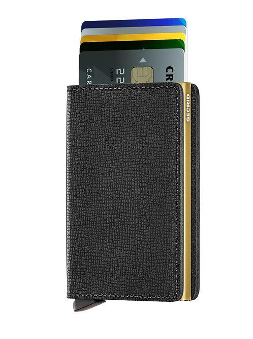 Slimwallet Crisple Black-Gold RFID